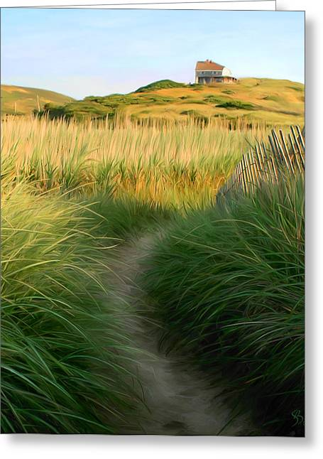 Sue Brehant Greeting Cards - Path to Balston Greeting Card by Sue  Brehant