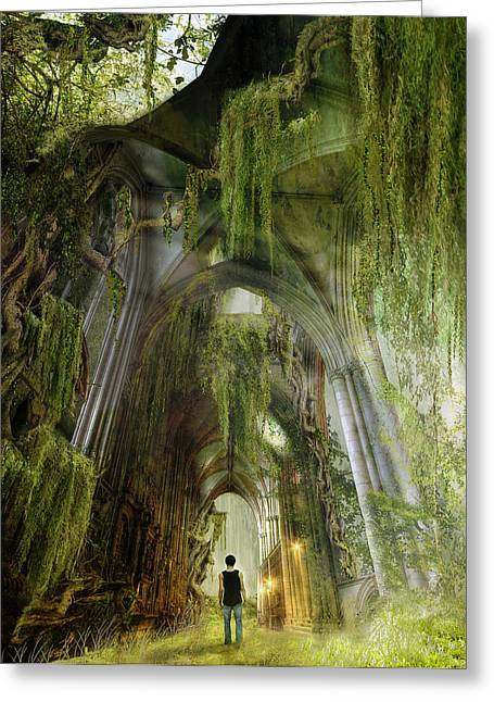 Westminster Greeting Cards - Path to Inner Peace Greeting Card by Karen H