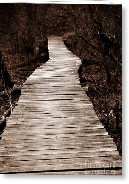Walk Paths Digital Art Greeting Cards - Path to Nowhere Greeting Card by Jeannie Burleson
