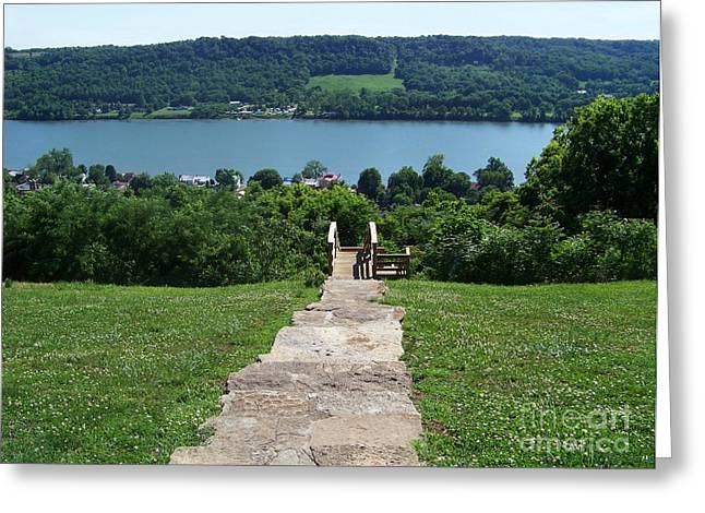 Harriet Beecher Stowe Greeting Cards - Path to Rankin House Greeting Card by Charles Robinson