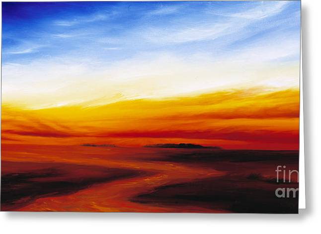 James Christopher Hill Greeting Cards - Path to Redemption Greeting Card by James Christopher Hill