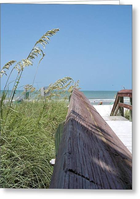 Florida Bridge Greeting Cards - Path to Relaxation Greeting Card by Chris Andruskiewicz