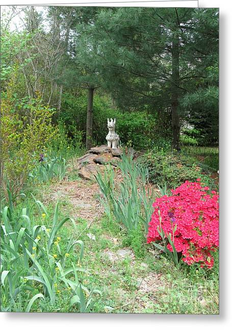 Path To The Dragon  Greeting Card by Nancy Patterson