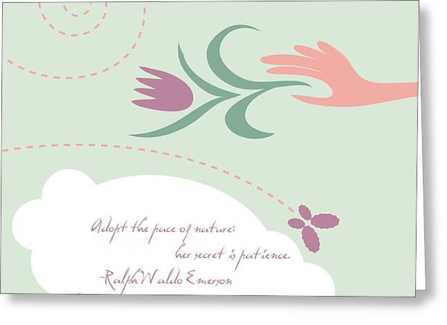 Emerson Greeting Cards - Patience Greeting Card by HD Connelly