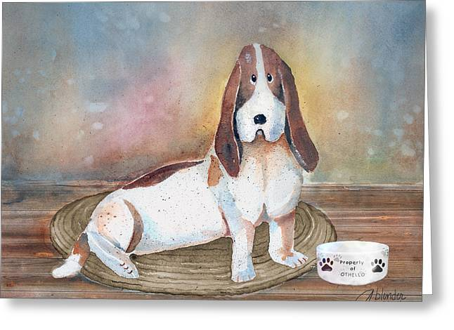 Cute Animal Cartoon Greeting Cards - Patiently Waiting Greeting Card by Arline Wagner