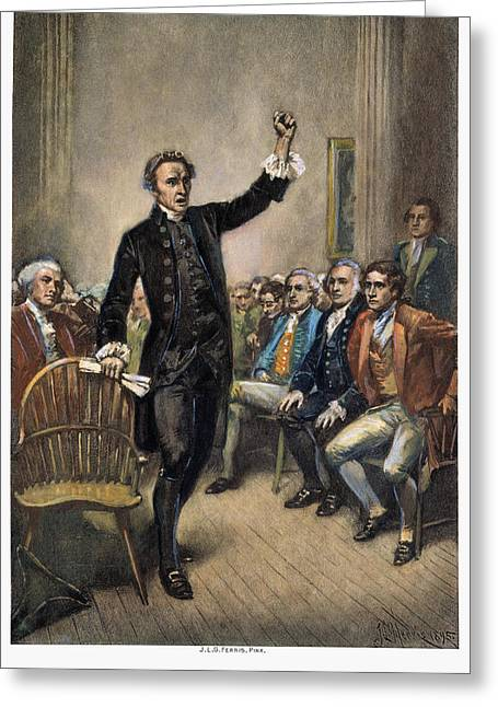 Fist Greeting Cards - Patrick Henry (1736-1799) Greeting Card by Granger