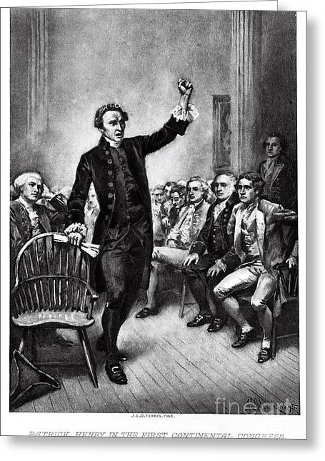 Opposition Greeting Cards - Patrick Henry, American Patriot Greeting Card by Photo Researchers