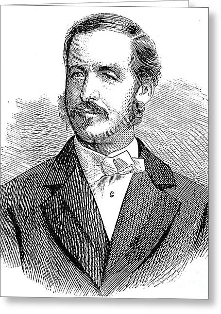 Sideburns Greeting Cards - PATRICK SARSFIELD GILMORE (1829-1892). American (Irish-born) bandmaster and composer. Wood engraving, American, 1869 Greeting Card by Granger
