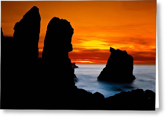 Patrick's Point Silhouette Greeting Card by Greg Nyquist