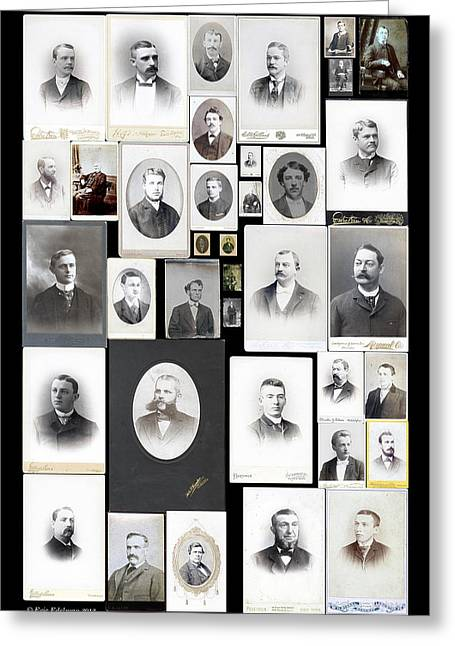 Genealogy Greeting Cards - Patrilineage Greeting Card by Eric Edelman