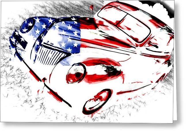 Phil Motography Clark Greeting Cards - Patriotic 39 Ford Greeting Card by Phil