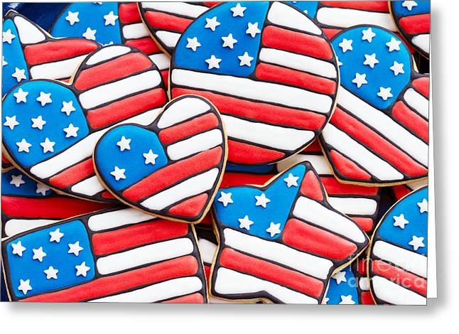 4th July Photographs Greeting Cards - Patriotic cookies Greeting Card by Ruth Black