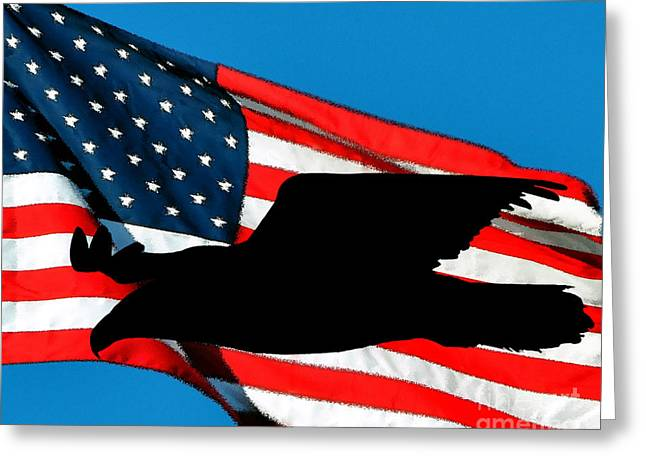 Al Powell Photography Usa Greeting Cards - Patriotic Predator Greeting Card by Al Powell Photography USA