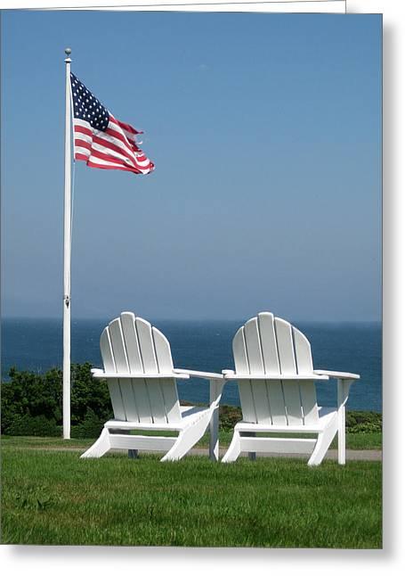Patriotic Serenity Greeting Card by Rose Pasquarelli
