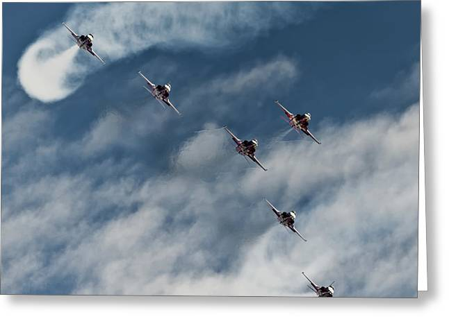 Recently Sold -  - Fabled Greeting Cards - Patrouille Suisse Greeting Card by Marta Holka