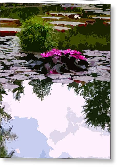 Reflection In Water Greeting Cards - Patterns of Peace Greeting Card by John Lautermilch