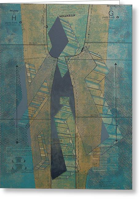 Patterned Mixed Media Greeting Cards - Patterns Series Number Seven Greeting Card by Sonja Olson