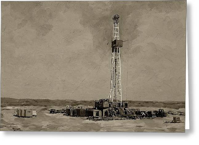 Best Sellers -  - Patch Greeting Cards - Patterson Rig 189  Greeting Card by Galen Cox