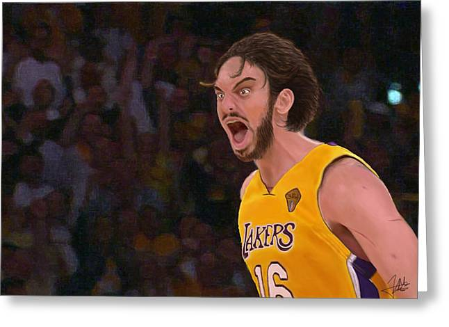 Pau Gasol Greeting Card by Zaida Ortega