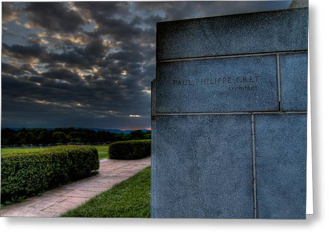 Wheel Photographs Greeting Cards - Paul Cret Gettysburg Monument Greeting Card by Andres Leon
