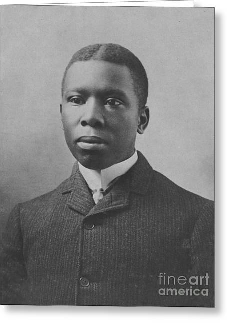 Negro Greeting Cards - Paul Dunbar, African-american Author Greeting Card by Photo Researchers
