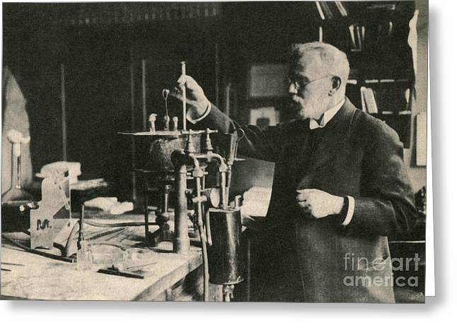 Nobel Prize Winner Greeting Cards - Paul Ehrlich, German Immunologist Greeting Card by Photo Researchers