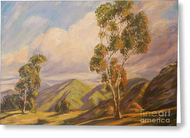 Paul Grimm California Impressionism Greeting Card by Sunanda Chatterjee