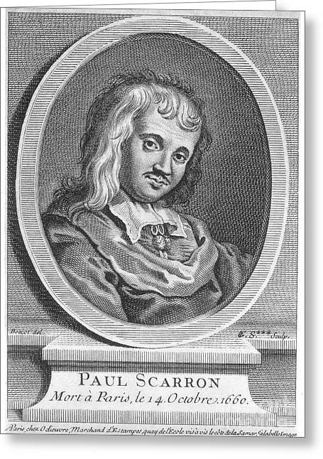 Comedians Photographs Greeting Cards - Paul Scarron (1610-1660) Greeting Card by Granger