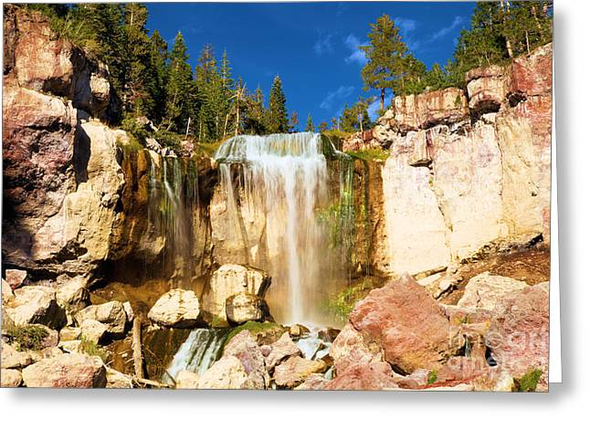 Newberry Greeting Cards - Paulina Falling At Newberry Greeting Card by Adam Jewell