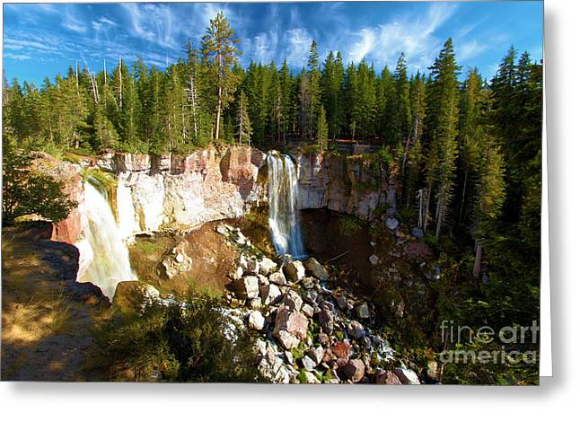 Newberry Greeting Cards - Paulina Falls At Newberry Greeting Card by Adam Jewell