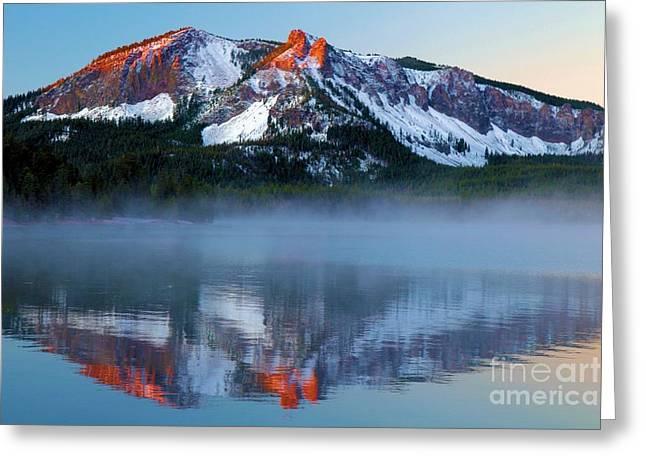 Newberry Greeting Cards - Paulina Peak Reflections Greeting Card by Adam Jewell