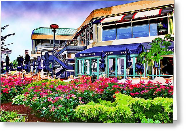 Power Plants Digital Art Greeting Cards - Pavilion Gardens Greeting Card by Stephen Younts