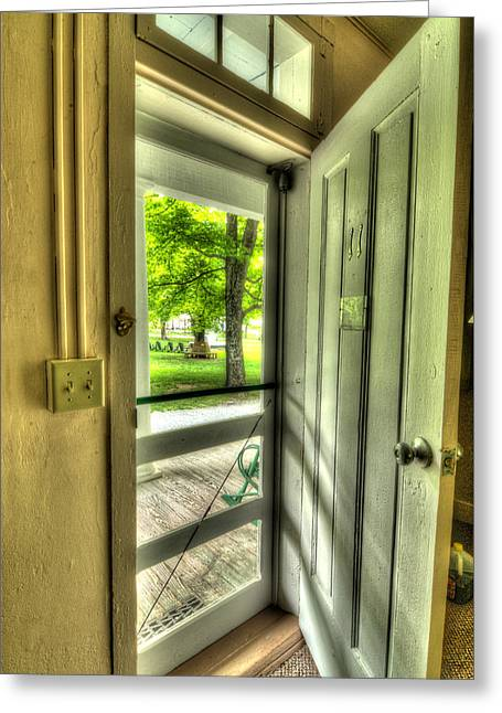 Screen Doors Greeting Cards - Pavilion Greeting Card by Mark Dottle