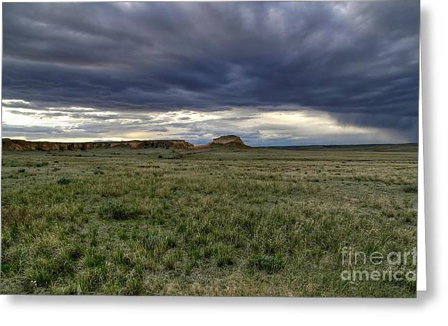 Roiling Greeting Cards - Pawnee Buttes Cloudscape Greeting Card by Michael Kirsh