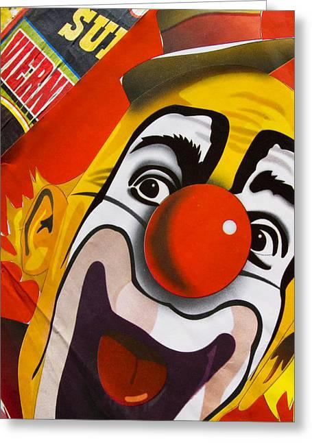 Clown Greeting Cards - Payaso Greeting Card by Skip Hunt