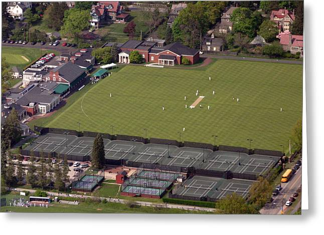 Cricket Aerial Greeting Cards - PCC Chestnut Hill Greeting Card by Duncan Pearson
