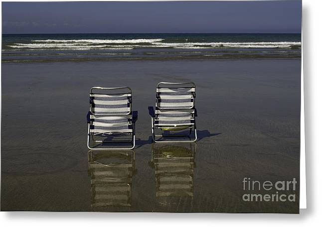 Ocean Panorama Greeting Cards - Peace and quiet   Greeting Card by Pierre BRYE