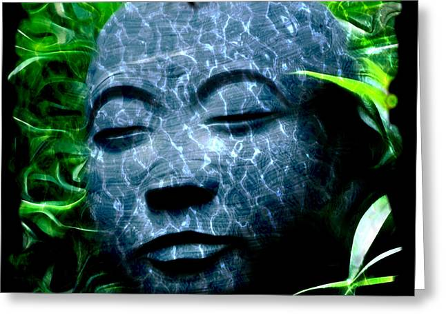 Budha Greeting Cards - Peace and Tranquility Greeting Card by Bill Cannon