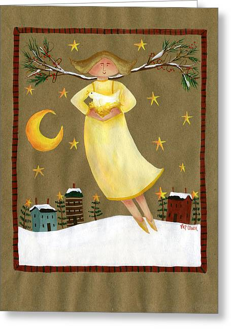 Angel With Star Greeting Cards - Peace Angel Greeting Card by Pat Olson