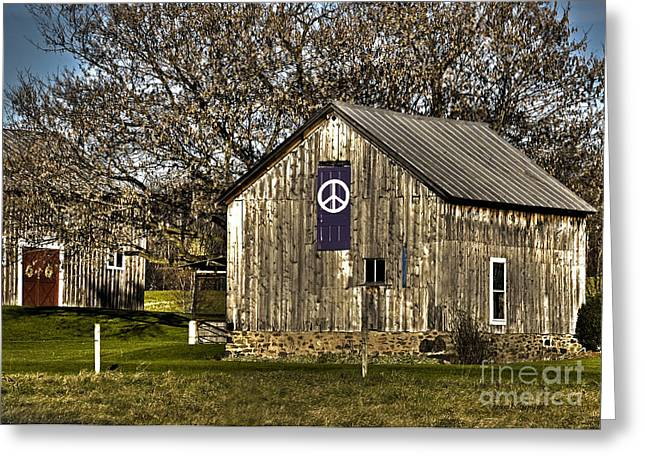 Recently Sold -  - Berry Greeting Cards - Peace Barn Greeting Card by Diane E Berry