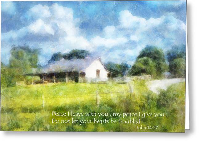 Peace Be With You Greeting Card by Francesa Miller