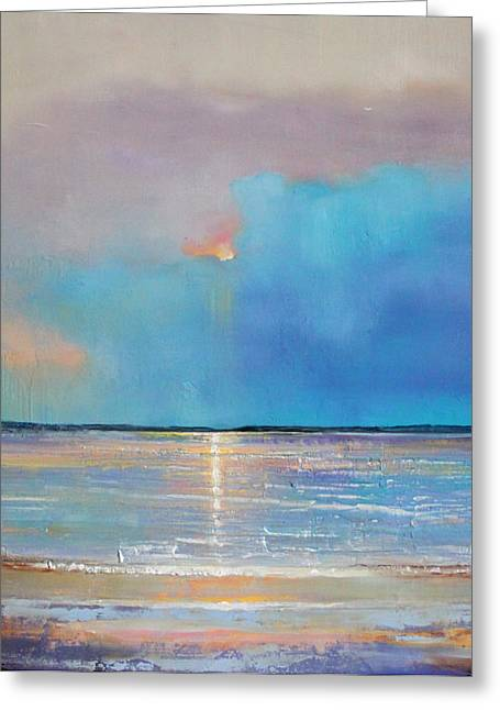 Recently Sold -  - Moon Beach Greeting Cards - Peace Beach Greeting Card by Toni Grote