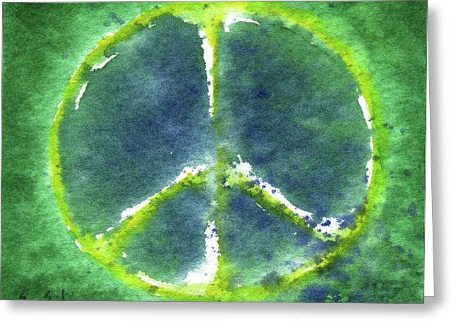 Analogous Greeting Cards - Peace Day 2011 Greeting Card by Sean Seal