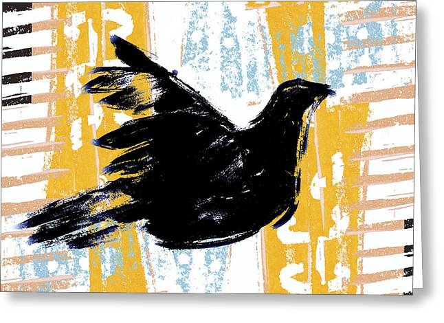Peace Greeting Cards - Peace Dove 1 Greeting Card by Carol Leigh