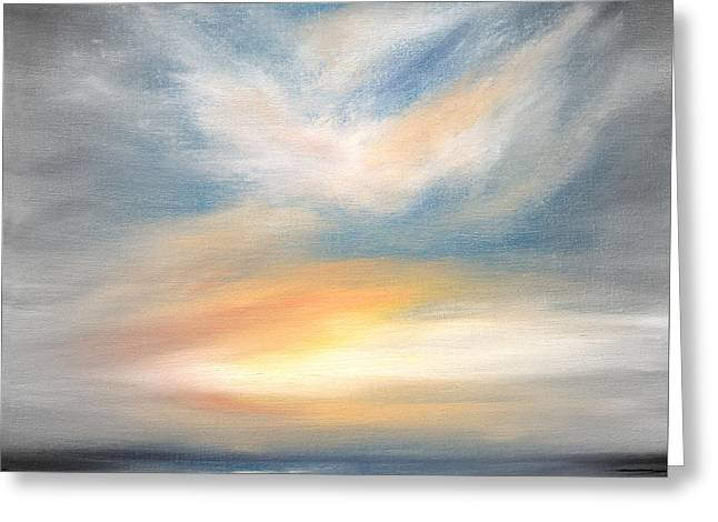 Sunset Posters Greeting Cards - Peace Greeting Card by Gina De Gorna