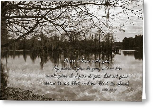 Living Life Photography Greeting Cards - Peace I Leave With You Greeting Card by Carolyn Marshall