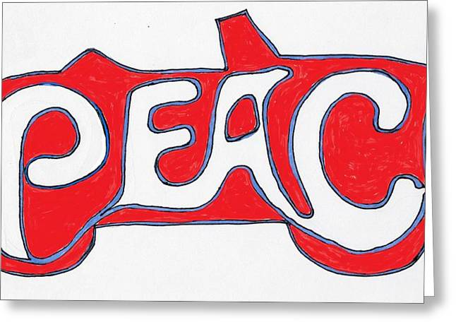 Graffiti Greeting Cards - Peace Is The Word Greeting Card by Robert Wolverton Jr