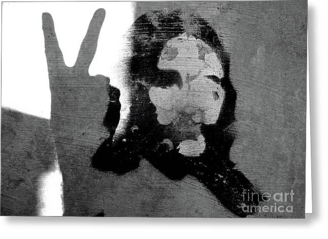 PEACE MAN PEACE Greeting Card by Joe Jake Pratt