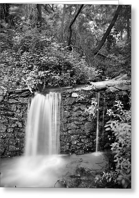 White And Black Waterfalls Greeting Cards - Peace of water Greeting Card by Guido Montanes Castillo