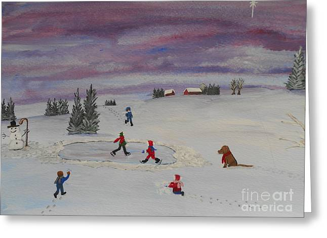 Peace On Earth...goodwill Toward Men Greeting Card by Barbara McNeil